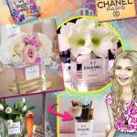 Decoração: Jarro de Flores Perfume CHANEL