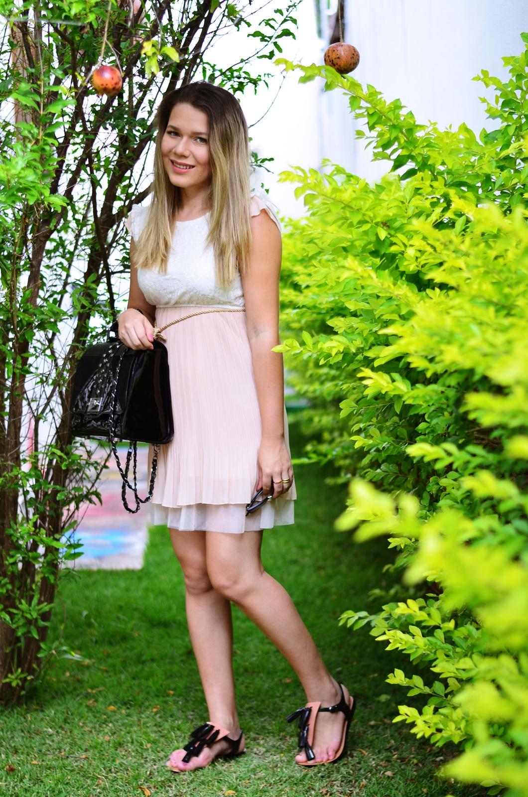 look gestante vestido bege + melissa solar + salinas 4