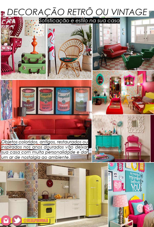 decoração vintage ou retro + blog ursula pink woman