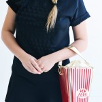 Look do Dia: Conjunto Preto e Bolsa Divertida Pop Corn