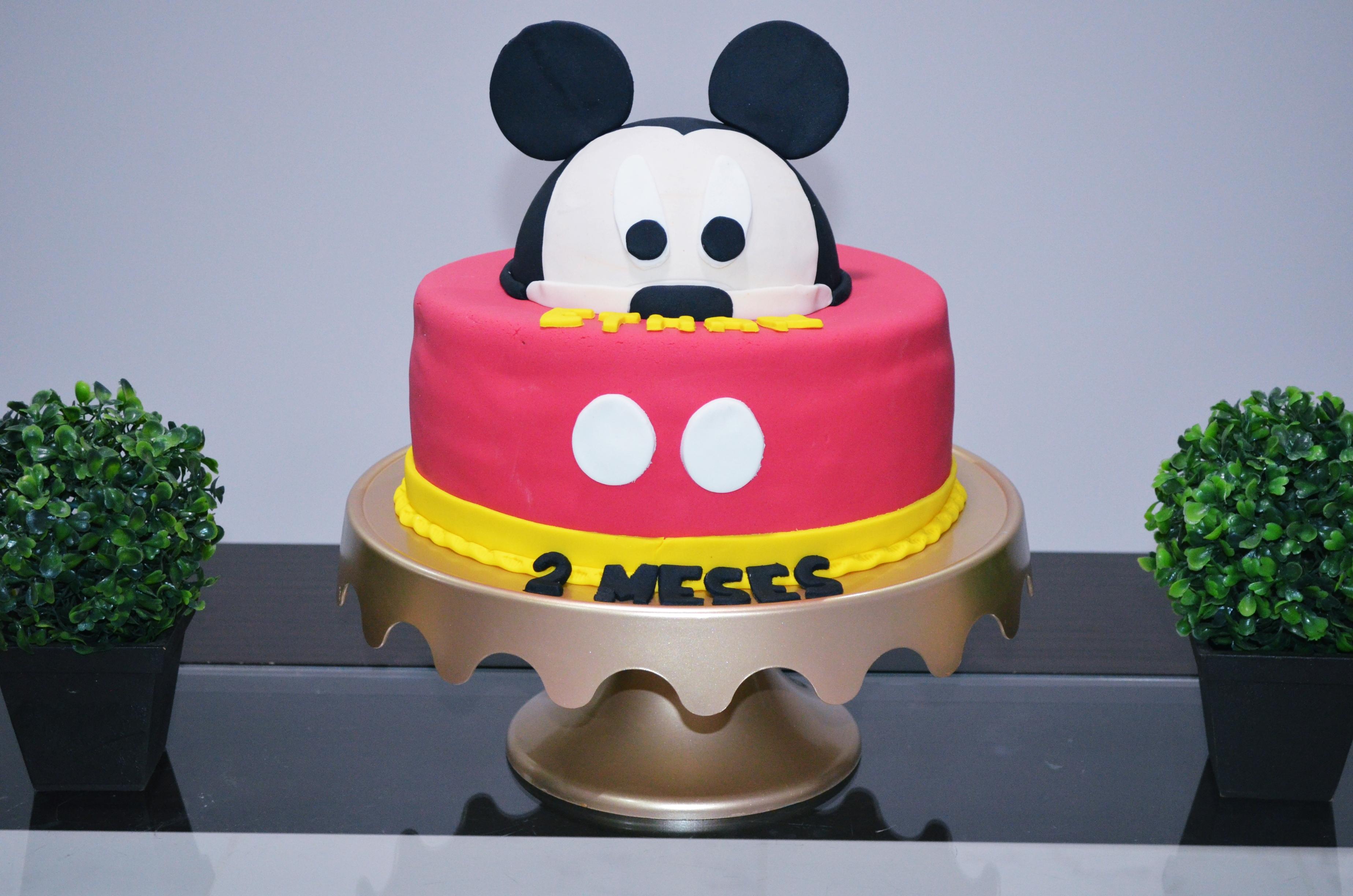 2 mesversario baby ethan - tema mickey mouse 4