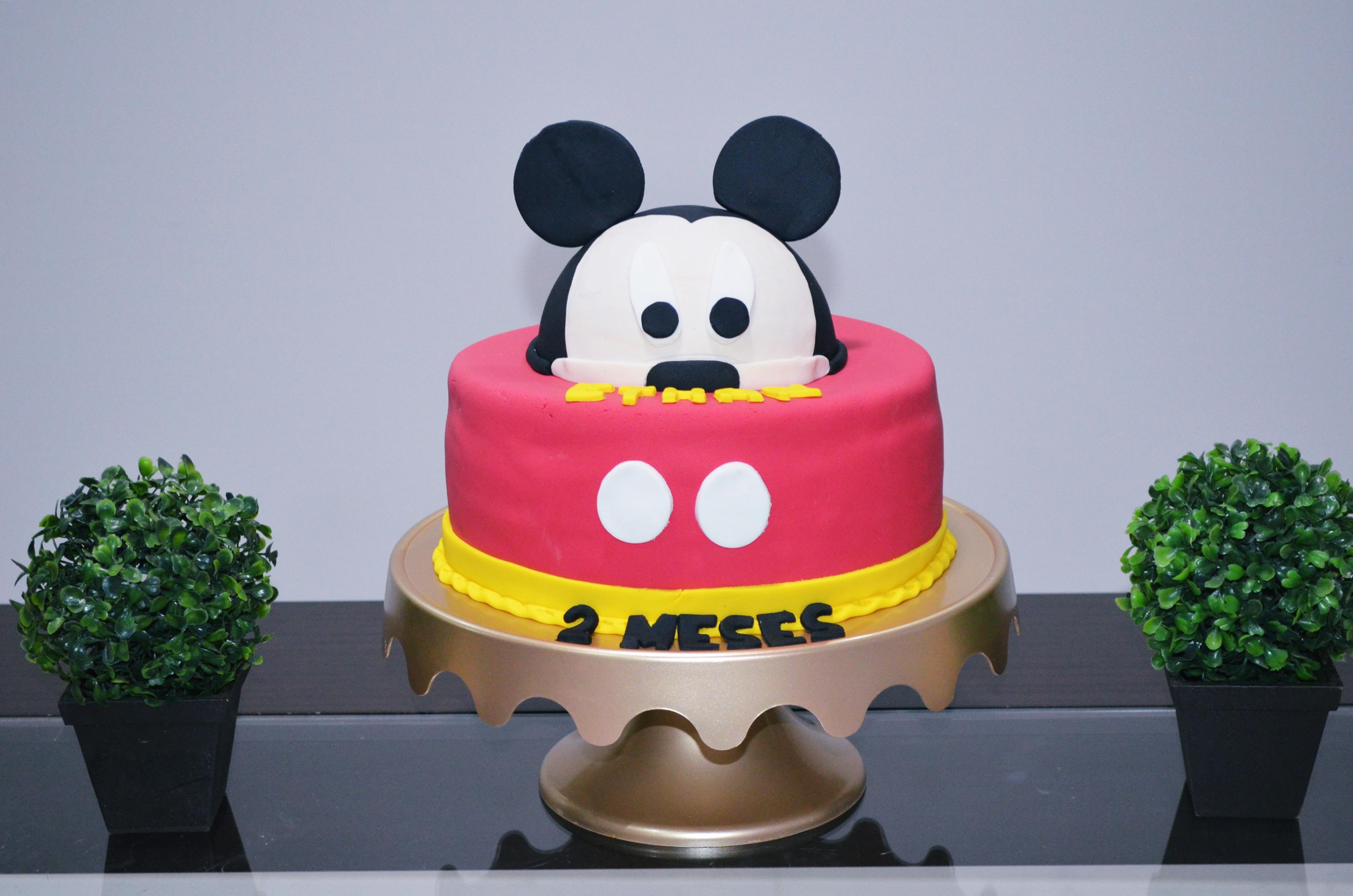 2 mesversario baby ethan - tema mickey mouse 5