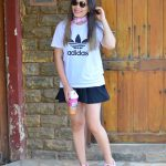 Look do Dia: T-shirt Adidas e Tênis SuperStar Rosa