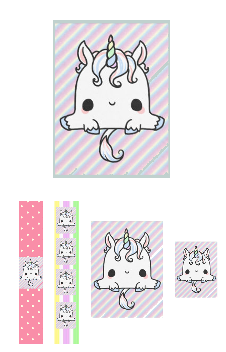 MOLDE UNICORNIO KAWAII